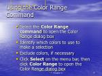 using the color range command
