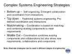 complex systems engineering strategies18