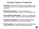 complex systems properties