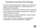 foundation information grid strategy