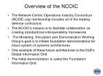 overview of the ncoic