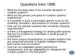 questions from 1995