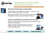 collaboration at head office and across the chain