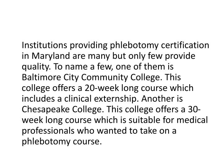 Ppt Phlebotomy Training In Maryland Powerpoint Presentation Id