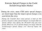extreme spread changes in the credit default swap index market12