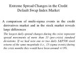 extreme spread changes in the credit default swap index market14