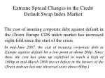 extreme spread changes in the credit default swap index market16