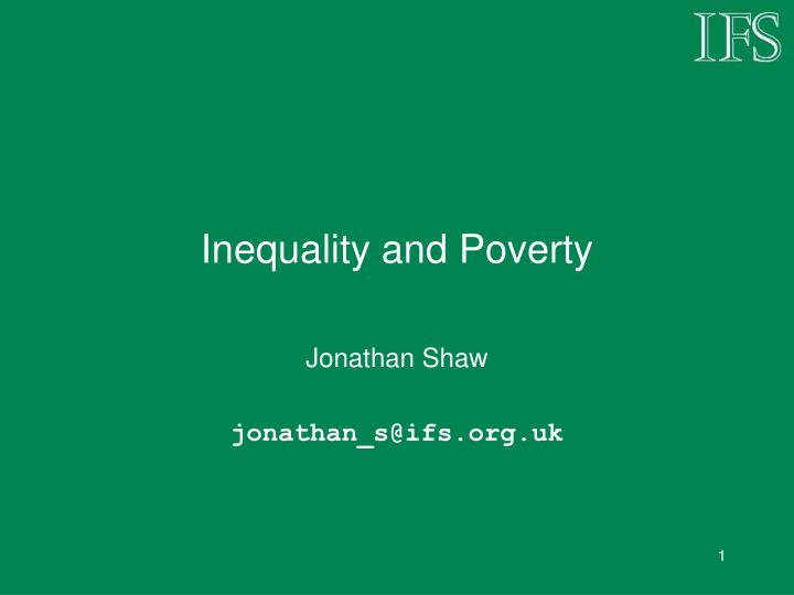 inequality and poverty n.