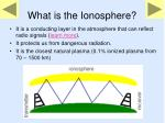 what is the ionosphere