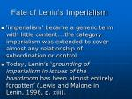 fate of lenin s imperialism