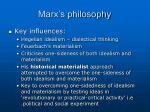 marx s philosophy