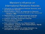 marxism s influence on international relations theories