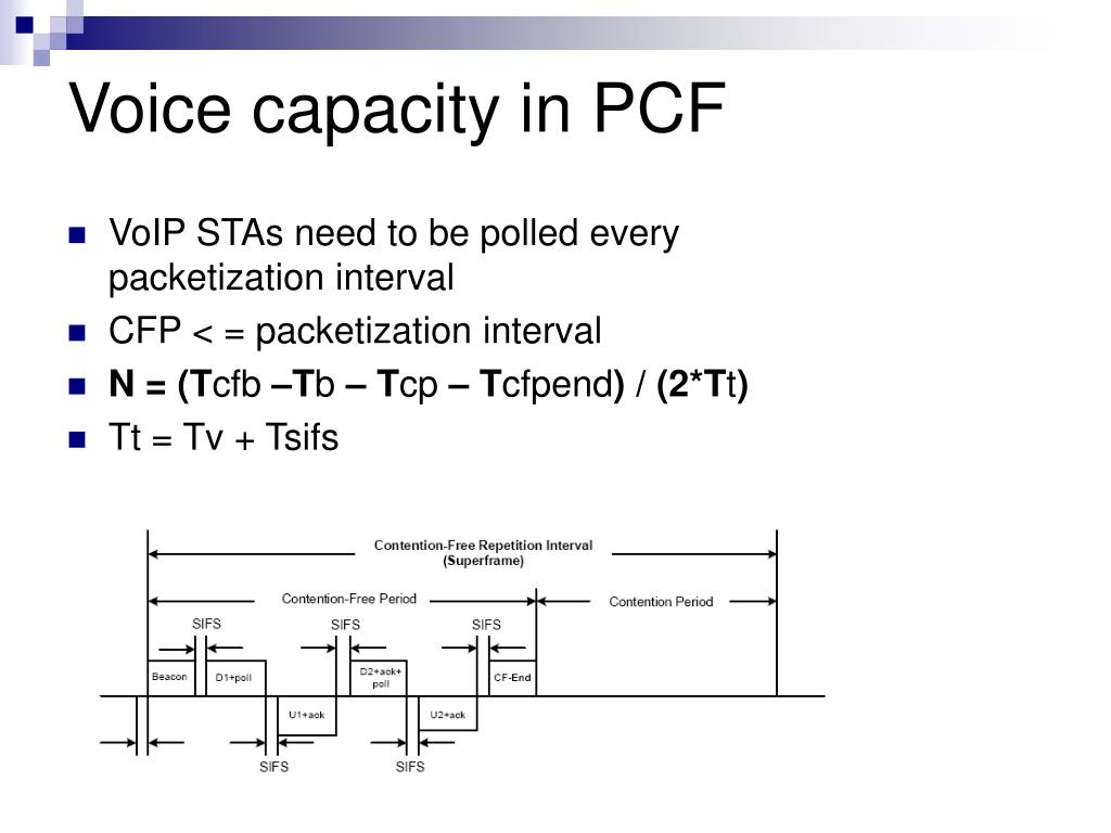 Voice capacity in PCF