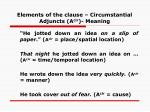 elements of the clause circumstantial adjuncts a cir meaning38
