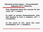 elements of the clause circumstantial adjuncts a cir meaning40
