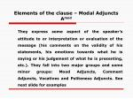 elements of the clause modal adjuncts a mod