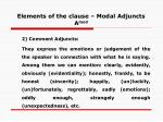 elements of the clause modal adjuncts a mod45