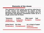 elements of the clause