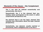 elements of the clause the complement
