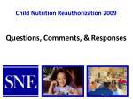 child nutrition reauthorization 200915