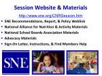 session website materials