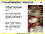 personal precautions handwashing1