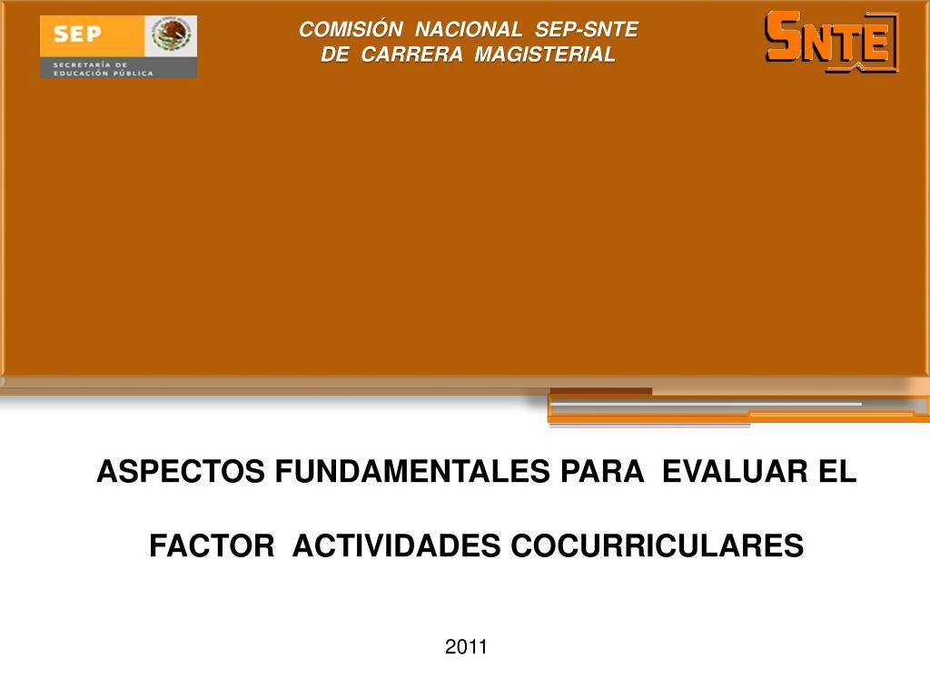 aspectos fundamentales para evaluar el factor actividades cocurriculares l.