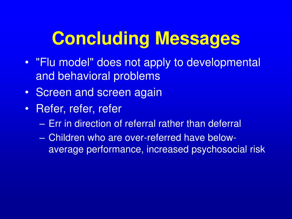 Concluding Messages