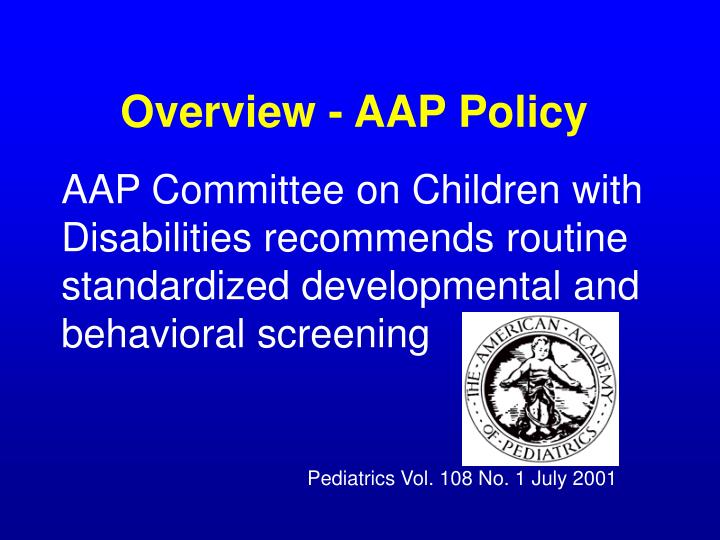 Overview aap policy