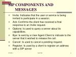 sip components and messages