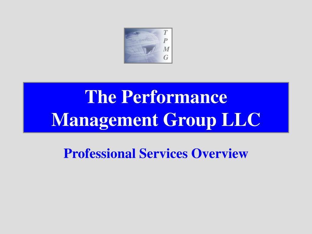 the performance management group llc l.