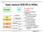 apply classical gdb rd to wsns11