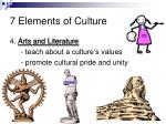 7 elements of culture8