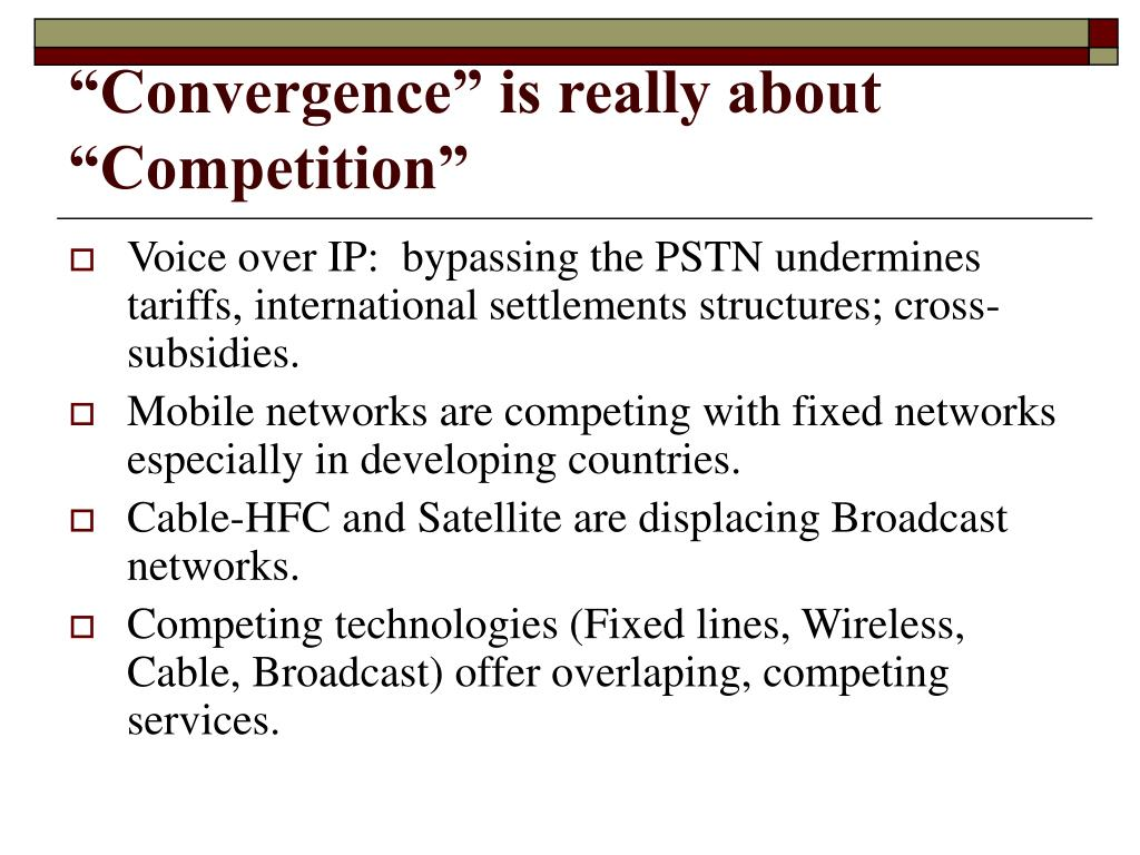 """""""Convergence"""" is really about """"Competition"""""""