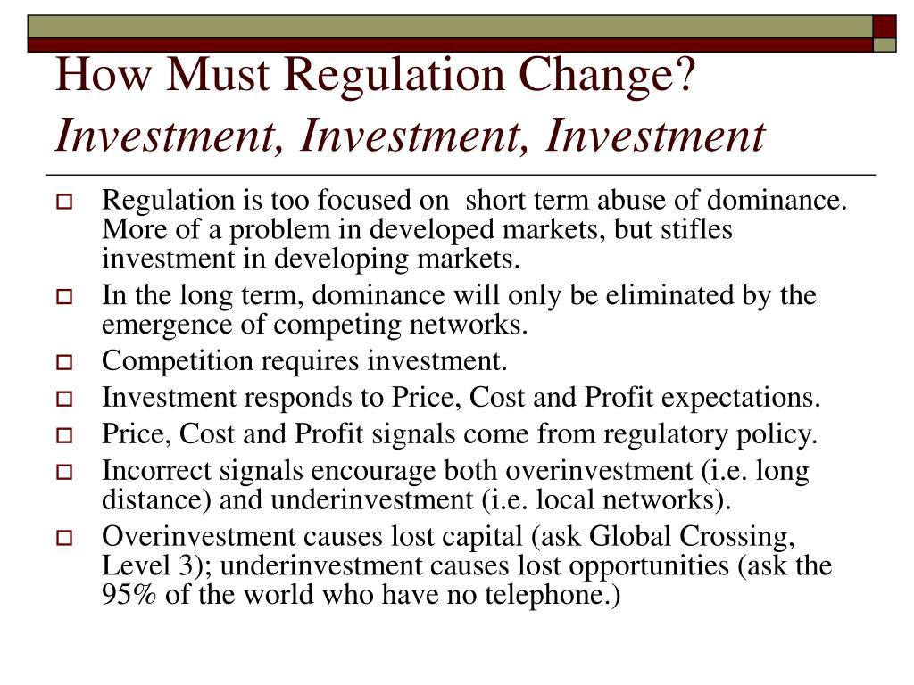 How Must Regulation Change?