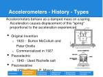 accelerometers history types