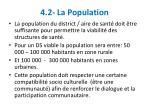 4 2 la population
