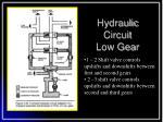 hydraulic circuit low gear