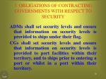 3 obligations of contracting governments with respect to security