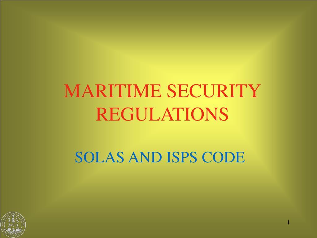 maritime security regulations l.