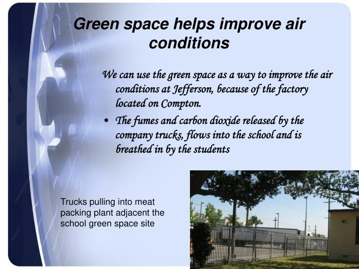 Green space helps improve air conditions
