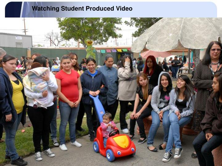 Watching Student Produced Video
