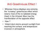 anti greehnouse effect