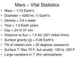 mars vital statistics