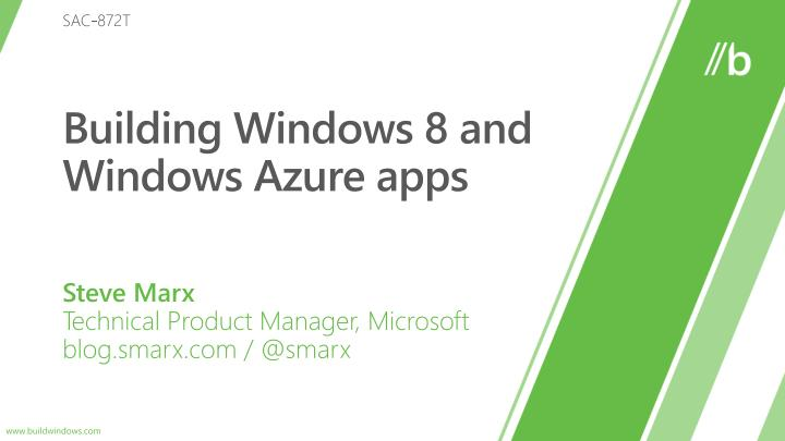 building windows 8 and windows azure apps n.