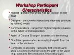 workshop participant characteristics28