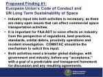 proposed finding 1 european union s code of conduct and un long term sustainability of space