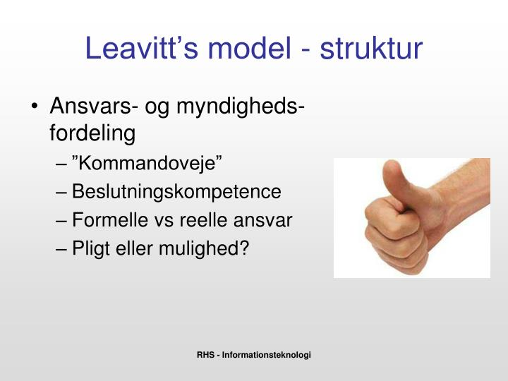 leavitt s model 1965 Leavitt's model in the year 1965, leavitt more about reshaping organizational culture using the burke-litwin model applying burke-litwin framework in research.