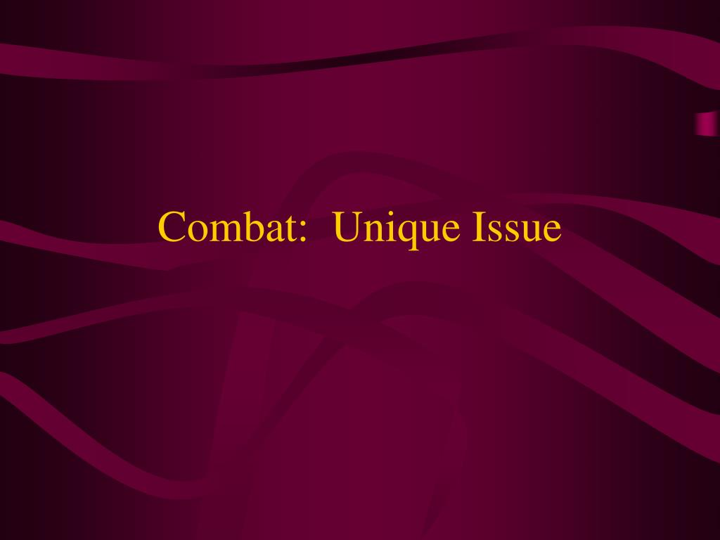 combat unique issue l.