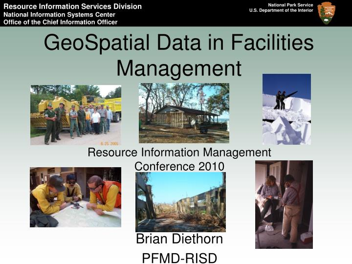 geospatial data in facilities management n.
